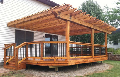 St. Louis wood deck instalation