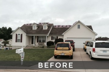 St. Louis shingle roof installation