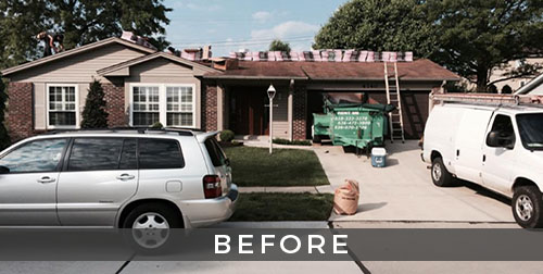 St. Louis roofing and siding remodel