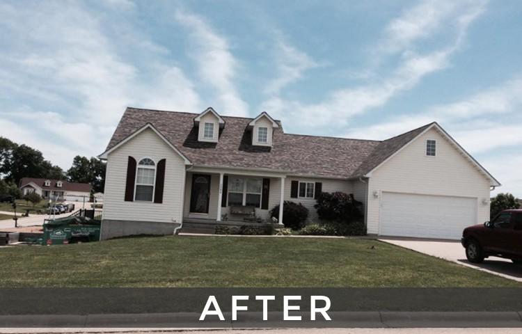 St. Louis shingle roof installation